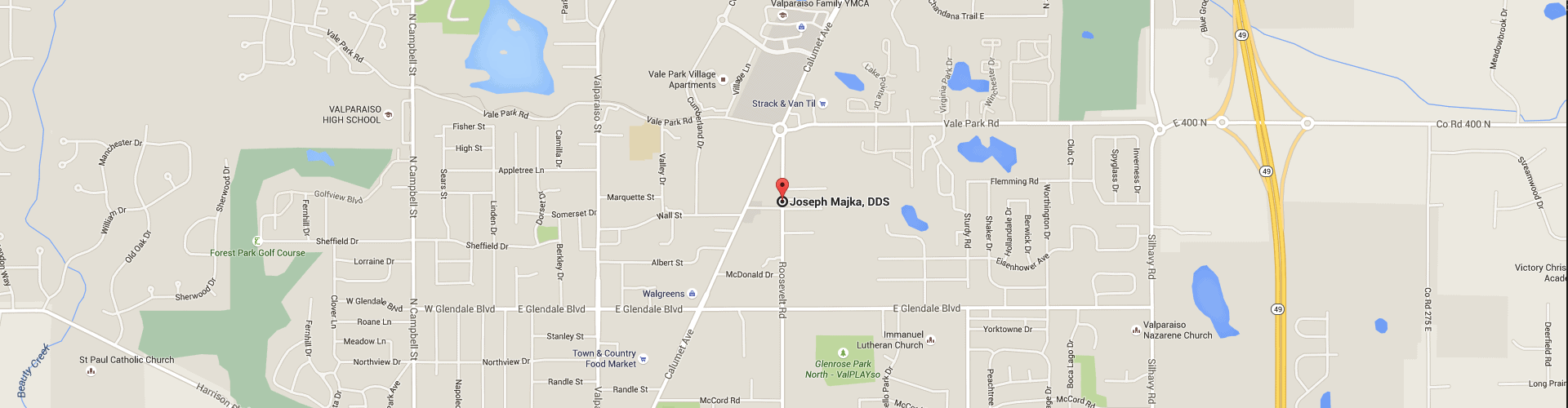 Map of Valparaiso Family Dentistry