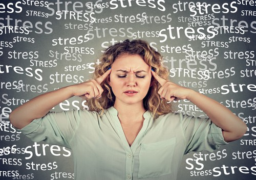 woman with stress